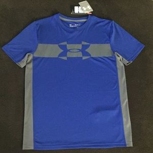 Boys XL Under Armour  blue/gray T-shirt NWT
